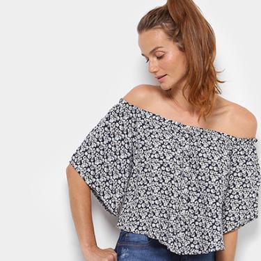 f1c8fb2741 Blusa Top Moda Ombro a Ombro Estampada - Feminino
