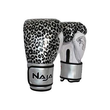 29f6239ff Luva de Boxe ANIMAL PRINT 10 OZ Onça Prata NAJA