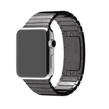Pulseira Para Relógio Apple Watch Series 3/2/1 Elos Aço Inox 42mm (Preto)