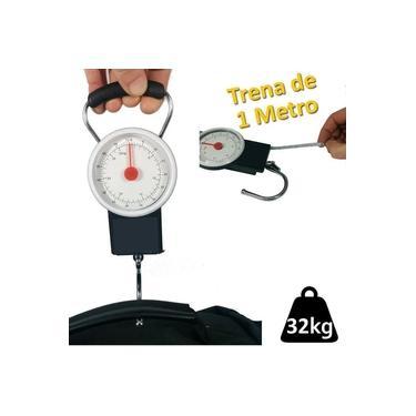 Imagem de balança manual analogica com gancho para pesca bagagem 32 Kgs CBRN01477