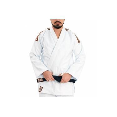 Kimono Judô/jiu Jitsu Haganah Kimonos Combat Basic Reforçado A1 Branco