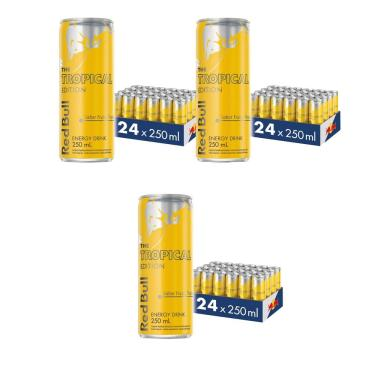Energético Red Bull Energy Drink, Tropical, 250Ml (72 Latas)