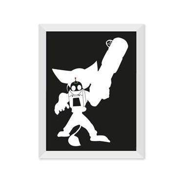 Poster de Ratchet e Clank Preto Com Moldura - Preto