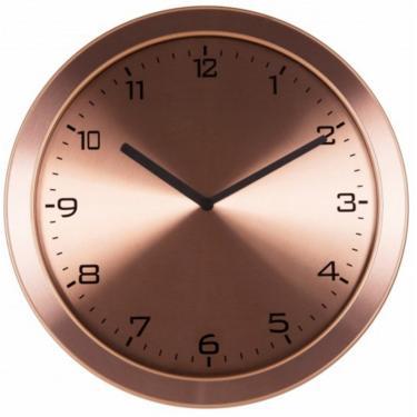 e1eee8a2326 Relógio 6456 Parede Alumínio Escovado Cobreado Herweg
