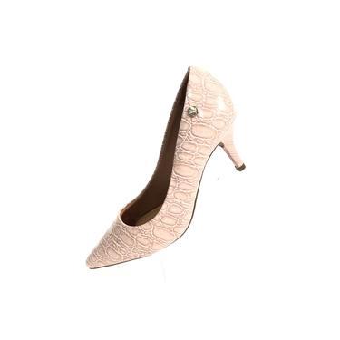 Sapato Vizzano Scarpin Croco Animal Print Feminino