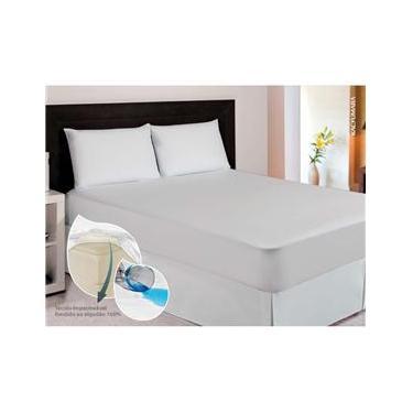 Imagem de Protetor Impermeável para Colchão Queen Kacyumara - Branco