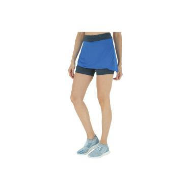 Short Saia adidas M - Feminino - AZUL PRETO adidas d140dcc245942