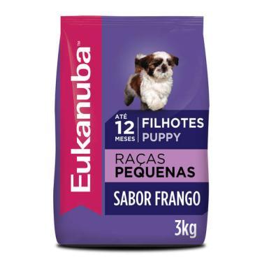 Ração Eukanuba para Cães Filhotes de Raças Pequenas - 3 Kg