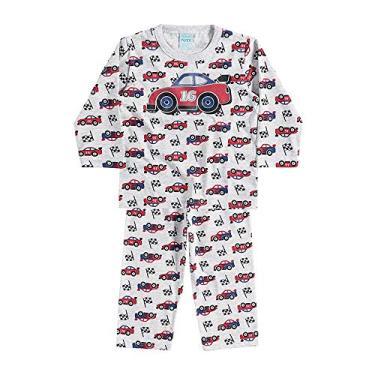 Pijama infantil menino Carrinhos tamanho P