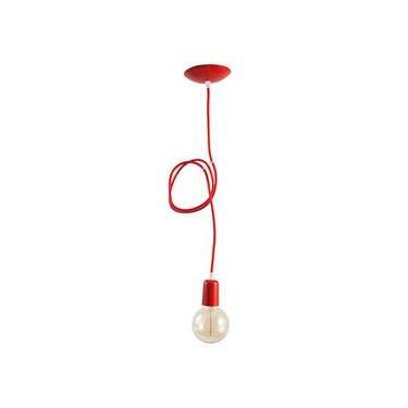 Pendente com cabo colorido TUTY - Vermelho