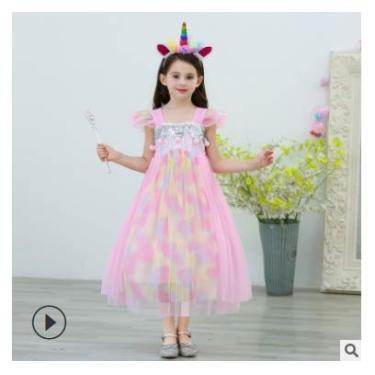 Imagem de Kantenia Bebê Princesa Vestida Vestido de Fantasia Halloween Natal Figurino com acessórios