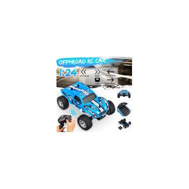 Imagem de 1:24 2.4G de Controle Remoto 4WD Veículo Off-road Elétrico rc Carro de Alta Velocidade rc Truck para Crianças Brinquedo