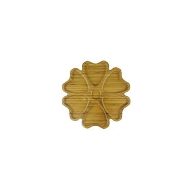 Imagem de Petisqueira de bambu com 06 divisórias E uma central para molhos