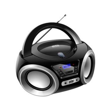 Rádio Portátil Lenoxx FM CD Player MP3 - Display Digital Bluetooth BD
