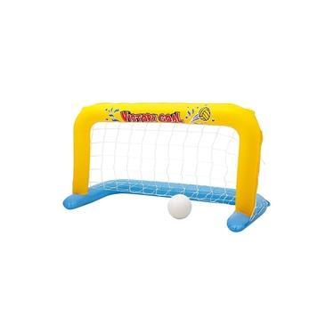 Imagem de Conjunto de polo aquático Bestway com bola e gol inflável na medida de 1,42m