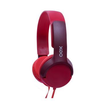 Imagem de Headphone Kids Oex Teen Hp303 com Microfone com 1.2m Vermelho