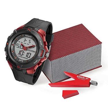 84549e7bd65 Kit Relógio Speedo Masculino Analógico e digital Preto 81136G0EVNP1K1 com  Pen Drive
