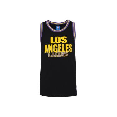 f826e14f4f Camiseta Regata NBA Los Angeles Lakers 17 Retilínea - Masculina - PRETO NBA
