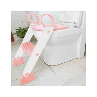 Assento Redutor Com Escada Toilet Training Rosa Kababy