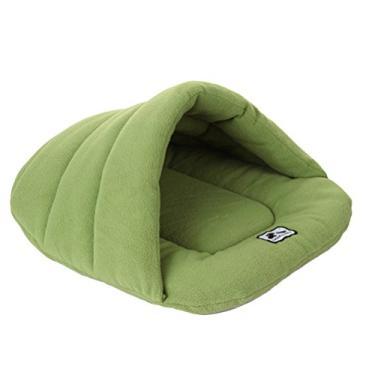 Almofadas de cama macias e confortáveis- Cama de gato de cachorro de estimação Acolchoado de ninho de canil quente e macio Tapete de cobertor de cachorro confortável Saco de dormir Saco de dormir Almofada acolchoada de algodão para filhote de cachorro gatinho tamanho XS