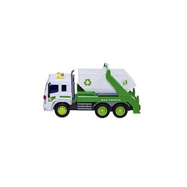 Imagem de Caminhão de brinquedo infantil Coleta de lixo com Caçamba a fricção luzes e som BBR