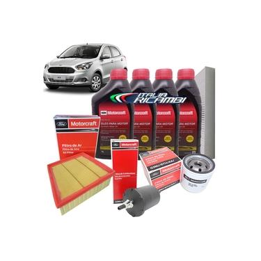 Kit troca de óleo Motorcraft 5W20 e filtros - Ford Ka 1.0 12V 3 cilindros e 1.5 16V Sigma