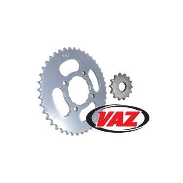 Kit Coroa e Pinhão Vaz Suzuki Yes Intruder 125 Aço 1045 - Sem Corrente