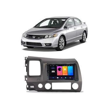Central Multimídia Honda Civic 2007 a 2011 7 Polegadas Sistema Android Play Store BT USB