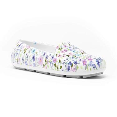 Sapatos aquáticos femininos Posh Driver da Floafers, Floral Multi, 9