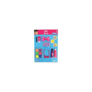 Imagem de Cartela Maquiagem Para Boneca Kit Com Colar Barbie Original