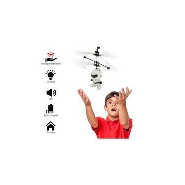 Mini Drone Brinquedo Robô Voador Infravermelho Voa Verdade 1014M