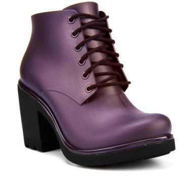 Bota Coturno Ankle Boot Ale Boa Onda By Cherry  Açai 36