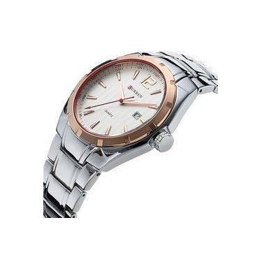 e8aeed5a507 Relógio Masculino Curren 8103 Aço Casual Luxo