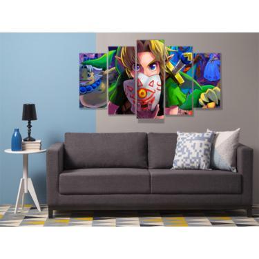 Quadro Mosaico 5 peças mdf 6mm  the legend of zelda