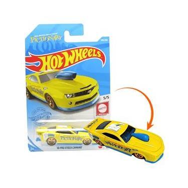 Imagem de Hot Wheels Pro Stock 10 Camaro Amarelo Pictionary mattel