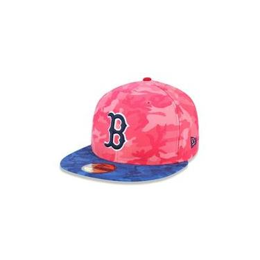Bone 59Fifty Aba Reta Fechado Boston Red Sox Mlb Aba Reta Vermelho New Era