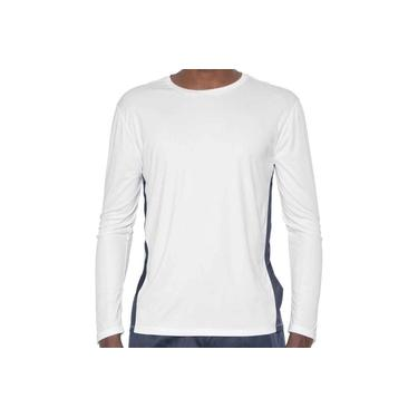 Camiseta Mizuno M/L Wave Run 2 Masculina 4141445-0208