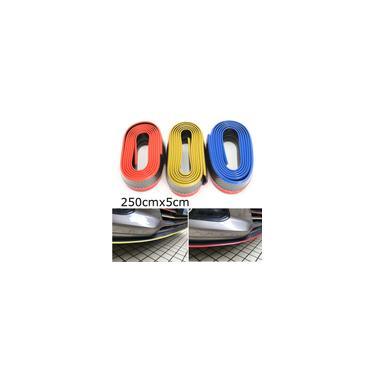 2.5 m Pára-choques dianteiro do carro Lip Splitter Chin Spoiler Protetor de borracha Body Kit Fibra de carbono Azul / Vermelho / Dourado