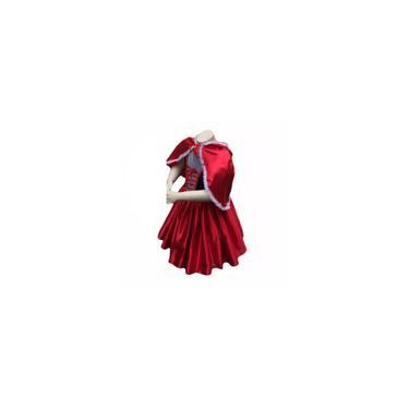Imagem de Fantasia chapeuzinho vermelho adulto com capuz