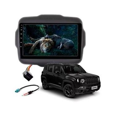 Central Multimídia 9 Pol Jeep Renegade Gps Android Usb Aux