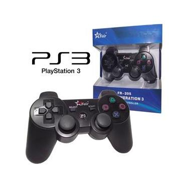 Controle PS3 Sem Fio Wireless P/ Playstation 3, Dualshock, Analógico, Joystick PS3, Manete PS3