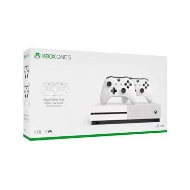 Console Xbox One S 1Tb 4K 2 Controles Branco