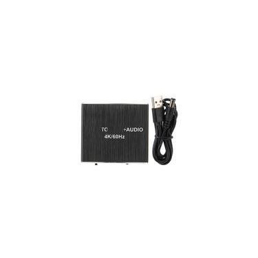 Conversor extrator de áudio hdmi 2.0 4K 1080P divisor óptico spdif coaxial aux