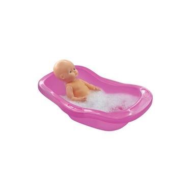 Imagem de Banheira Para Boneca Pink 50 Cm Líder Brinquedos 2350