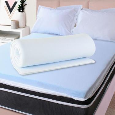 Imagem de Pillow Top Casal Espuma Da Nasa Viscoelástico Extra Conforto Maciez 4C
