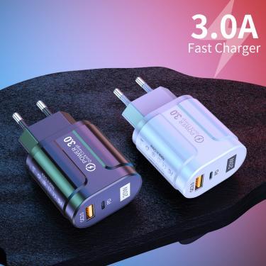 Pd 20w USB-C carregador para iphone 12 pro max mini carga rápida 3.0 qc 20w tipo c parede de viagem
