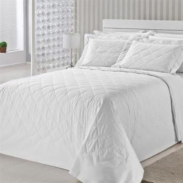 Imagem de Colcha Royal Comfort Matelasse Percal 233 Fios Queen Branco Plumasul