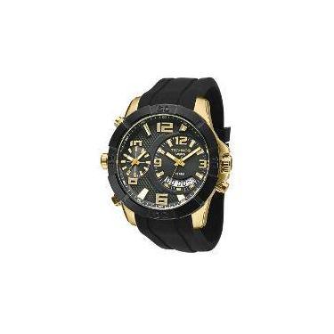 c07063b72c2 Relógio Masculino Technos Legacy Dual Time T205fj 8p 52mm Silicone