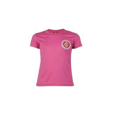 Camisa Internacional Baby Look Juvenil Dry Original Times Rosa