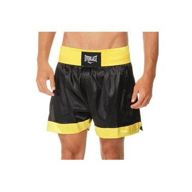 Shorts Muay Thai Preto com Amarelo ET20119A Everlast